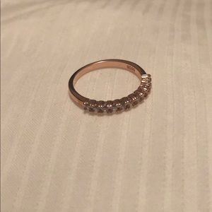 Rose gold simple diamond band (CZ)